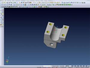Angefertigte 3D CAD-Zeichnung für ein Maschinenbauteil