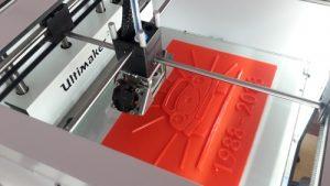 Entstehen des Modells im 3D-Drucker